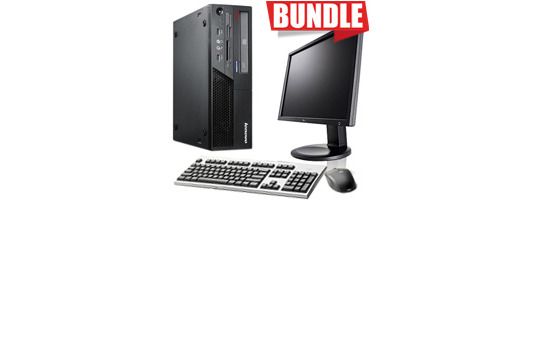 BUNDLE PC LENOVO THINKCENTRE+MONITOR LG 19