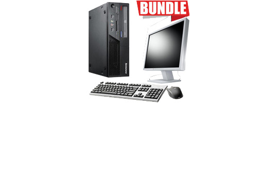 BUNDLE PC EIZO THINKCENTRE+MONITOR LG 19